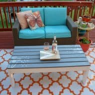 How to Build Paint and Stencil an Outdoor Coffee Table