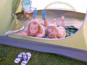 Family Friendly backyard camping #EnterTheWonderVault AD