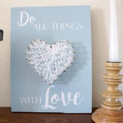Heart String Art for Kids and Adults