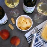 A Wine Tasting Party with Peach Frozen Yogurt