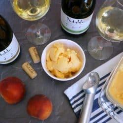 A Wine Tasting Party with Peach Frozen Yogurt