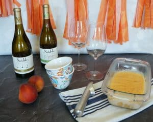 A Simple Wine Tasting Party with Peach Frozen Yogurt 1