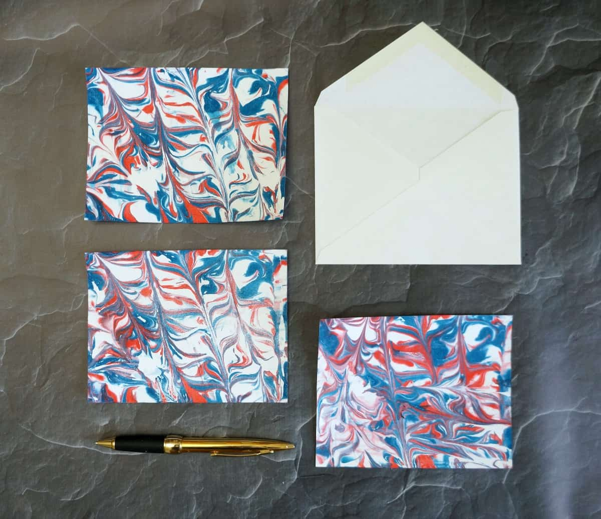 Marbled Paper Stationery Gift
