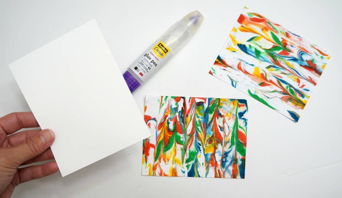 Marbled paper set of cards