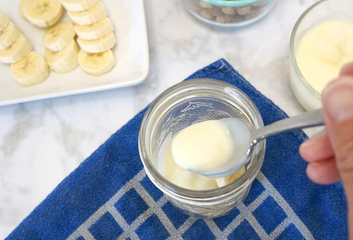 Peanut Butter Banana Yogurt Parfait step 2