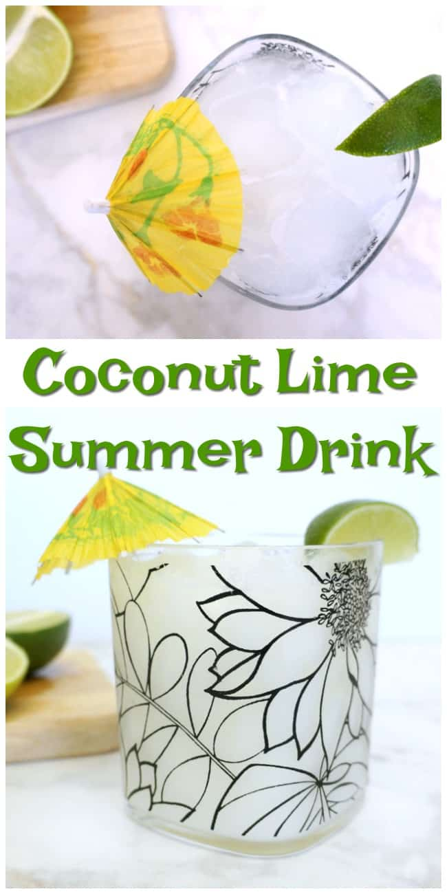 Refreshing coconut lime cocktail perfect for summer