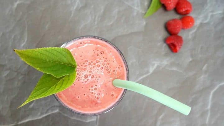 raspberry mint smoothie recipe final