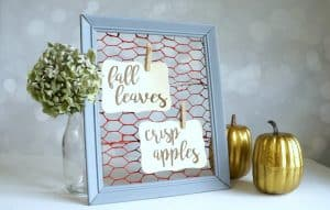 Fall chicken wire frame