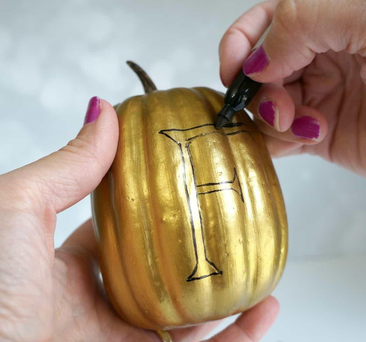 Fall gold pumpkins