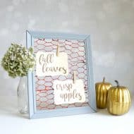 Faux Chicken Wire Frame for Fall