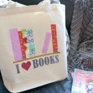 I Love Books Library Book Bag