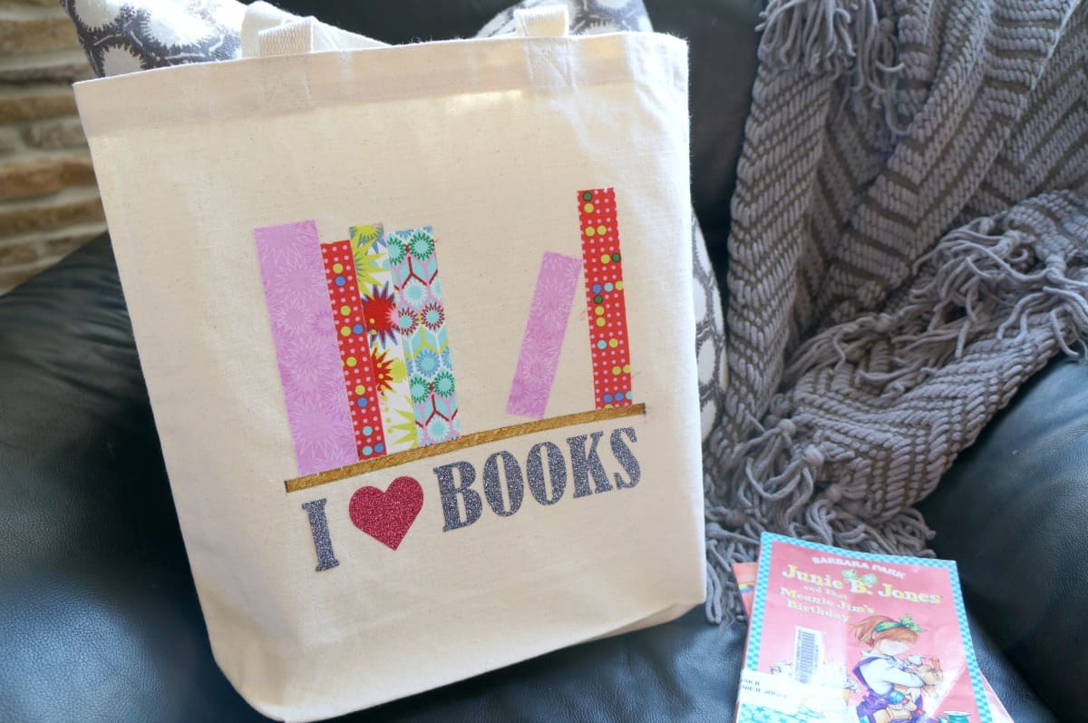 How to make a library book bag with fabric and vinyl