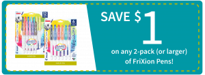 Pilot FriXion ColorSticksErasable Marker Pens BTS at Target_coupon