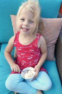 After school ice cream treat
