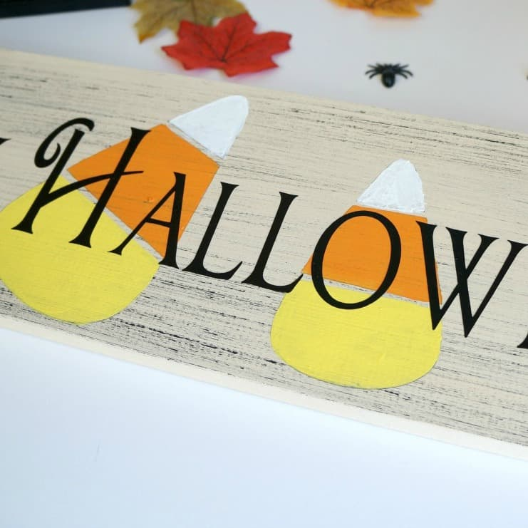 Happy Halloween Candy Corn Sign