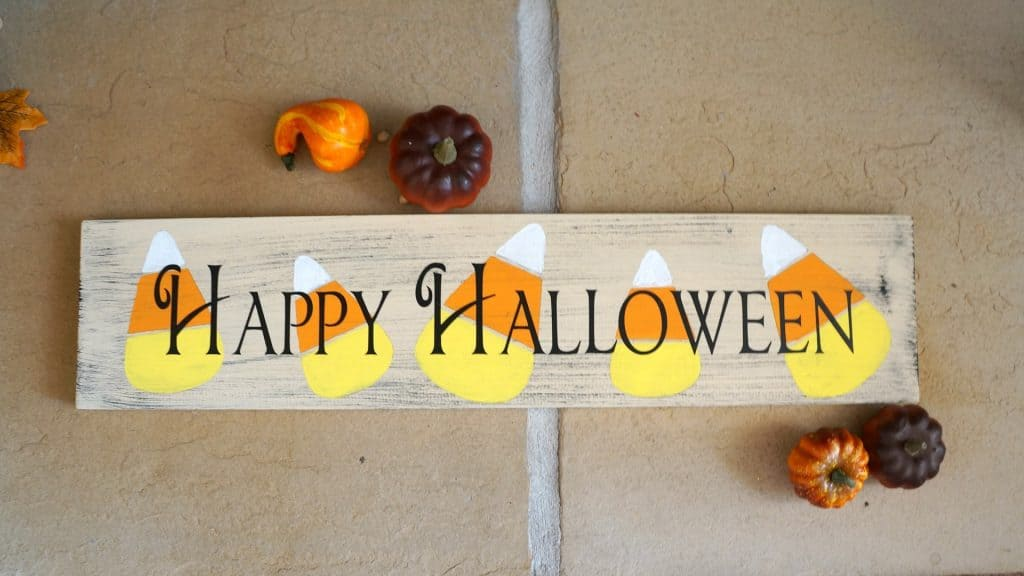 Halloween candy corn sign