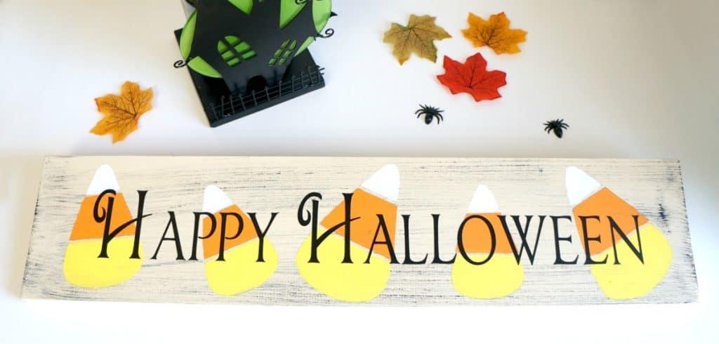 Happy Halloween Candy Corn Sign