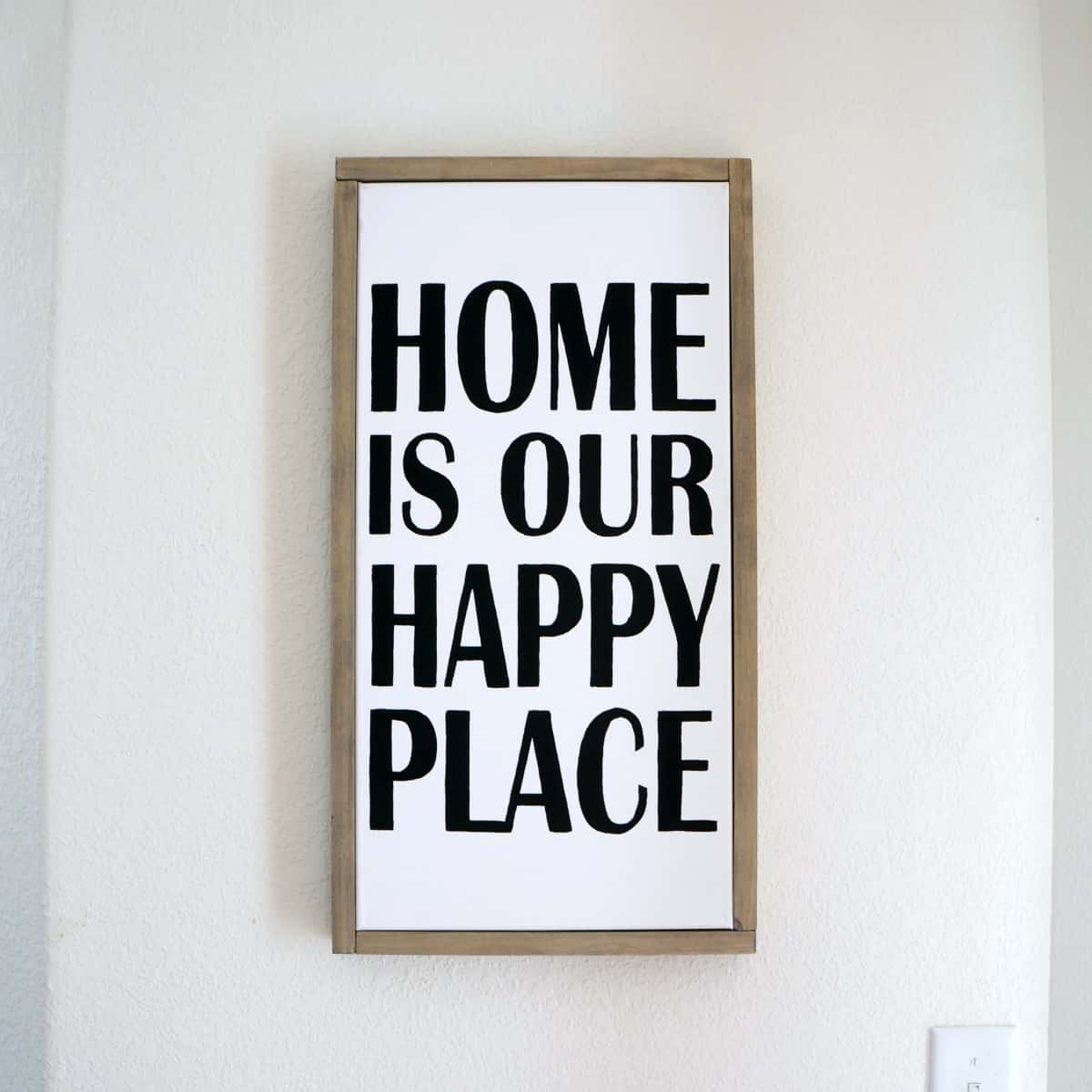 Home is our happy place DIY framed canvas art