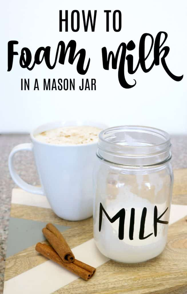 How to foam milk in a mason jar for an at home latte.