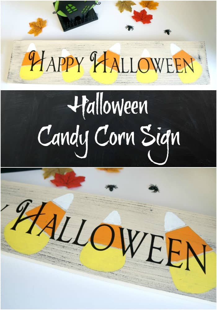 How to make a Halloween Candy Corn Sign