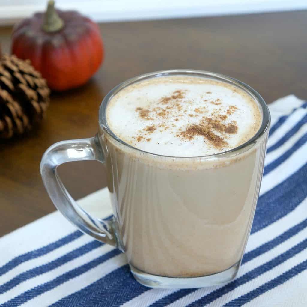 Pumpkin spice latte with easy foamed milk