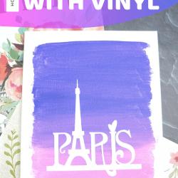 Vinyl on canvas