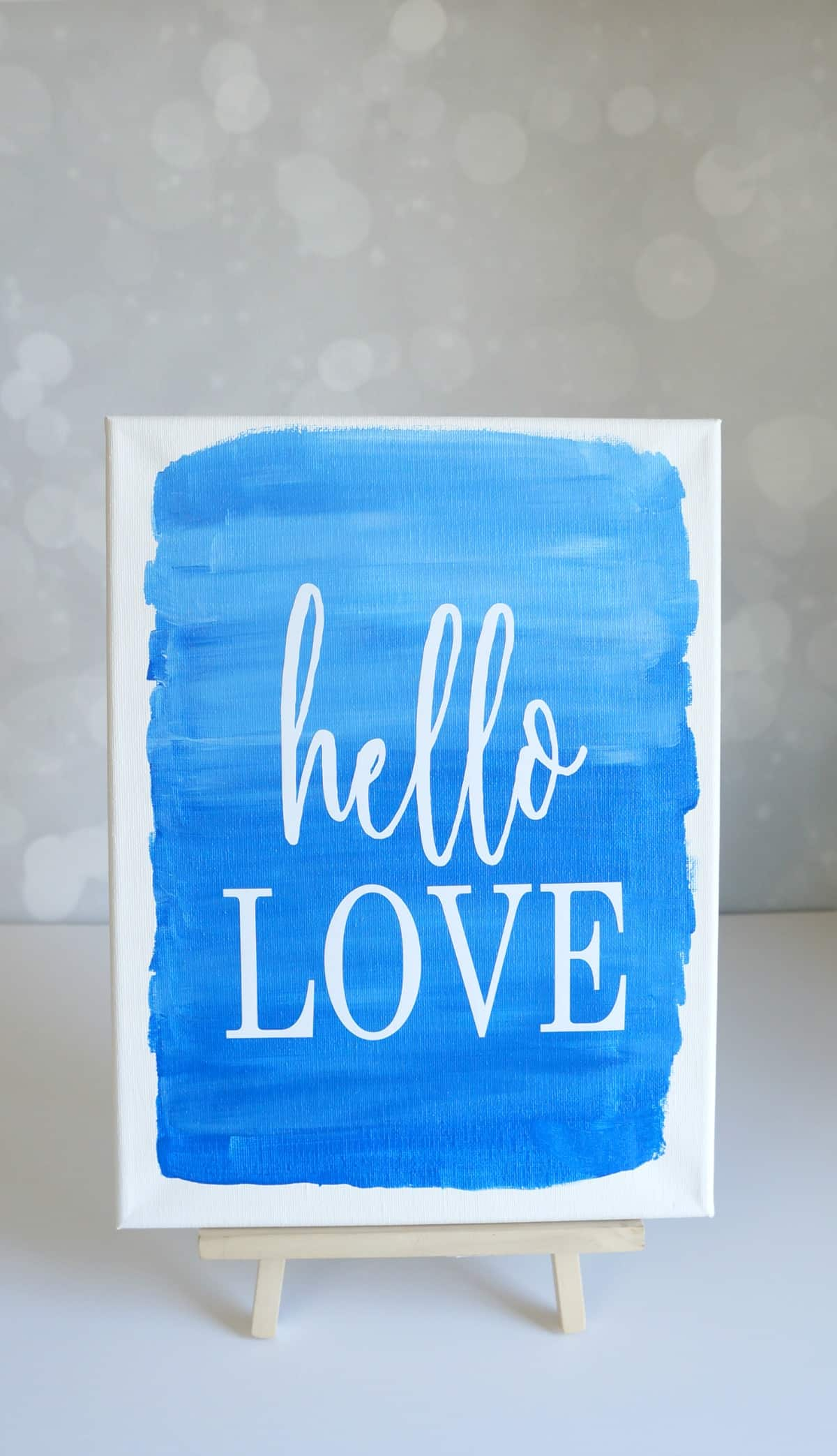 how to paint an ombre canvas with watercolor look and how to apply vinyl to a canvas