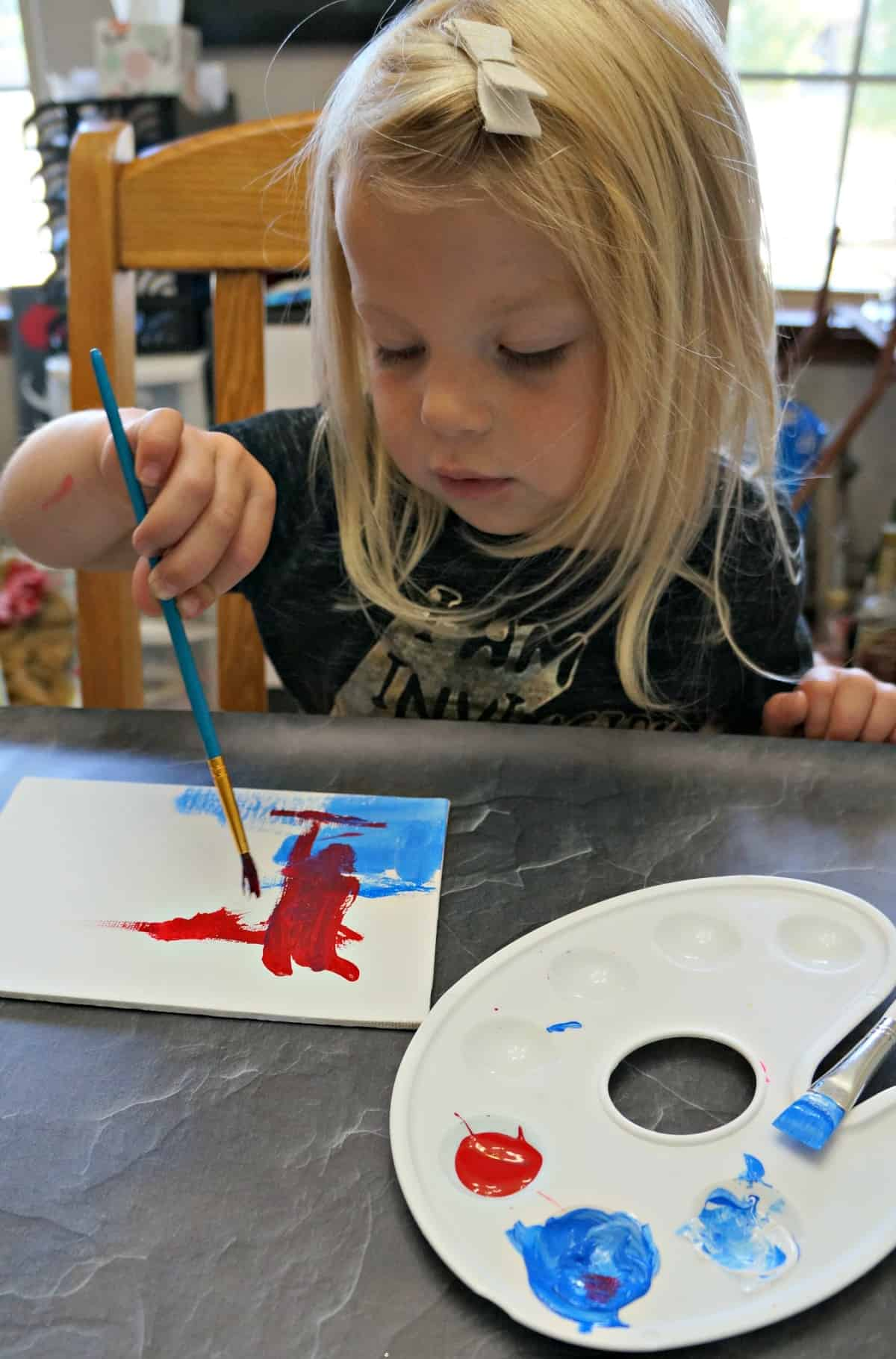 kids painted canvas