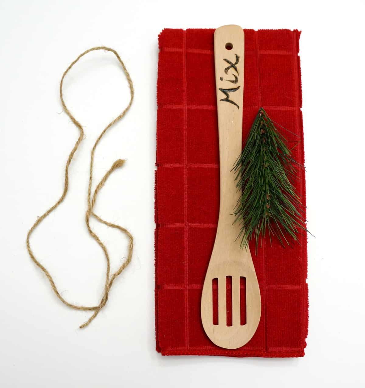 A simple wood burned hostess gift
