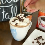 Enjoy a Cafe Mocha at Home