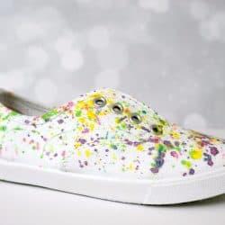 DIY Paint Splatter Canvas Shoes