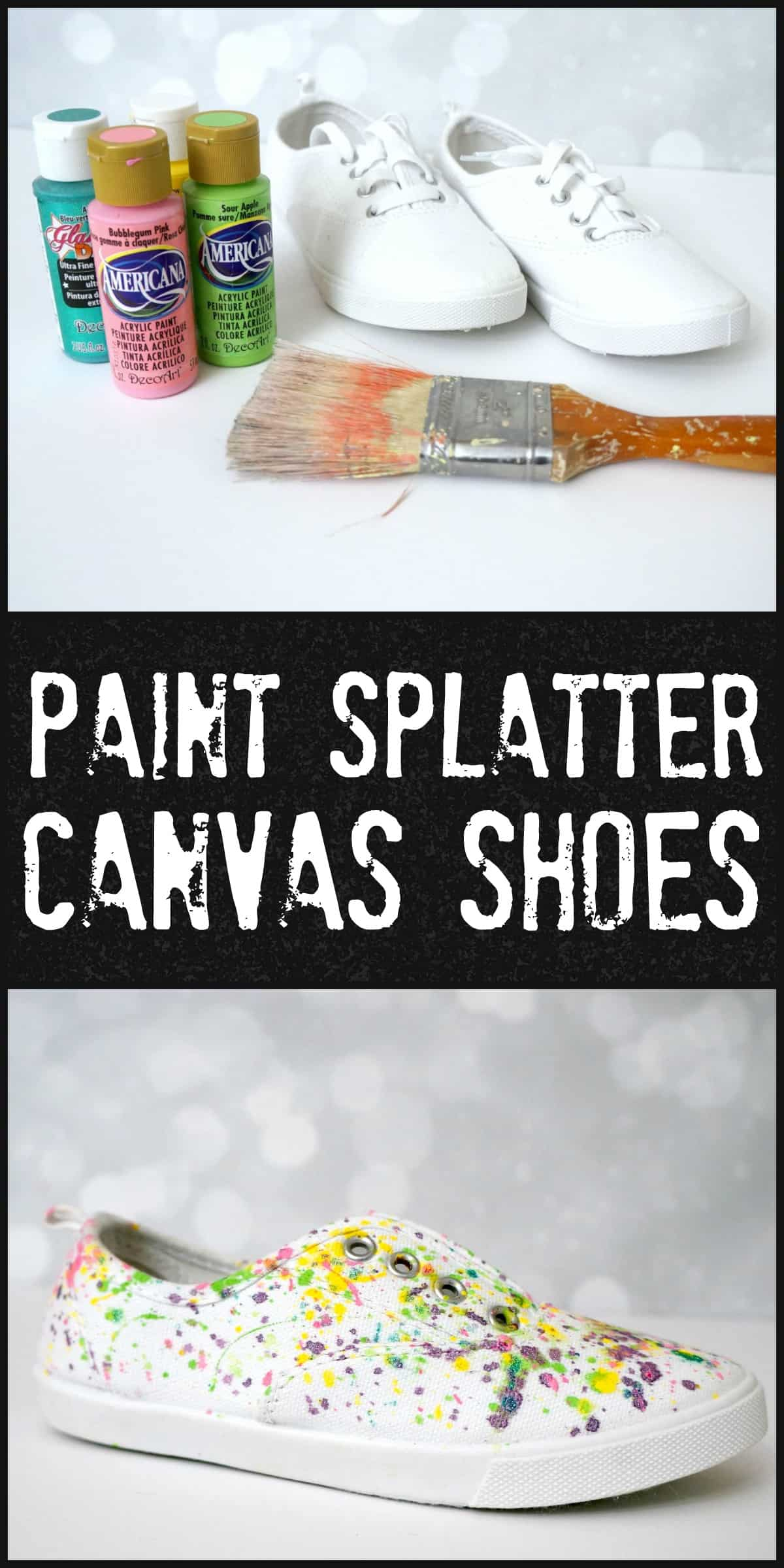 Easy and wearable paint splatter canvas shoes