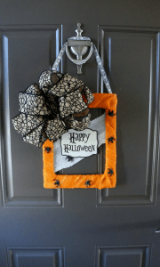 Halloween door hanger from a photo mat