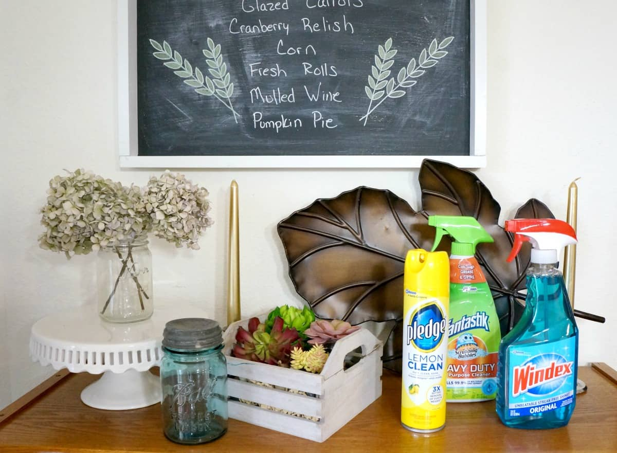 How to prepare your home for Thanksgiving plus a DIY chalkboard tutorial