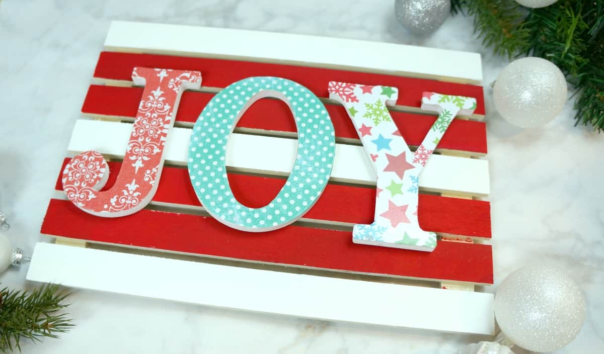 Colorful Christmas Pallet Sign