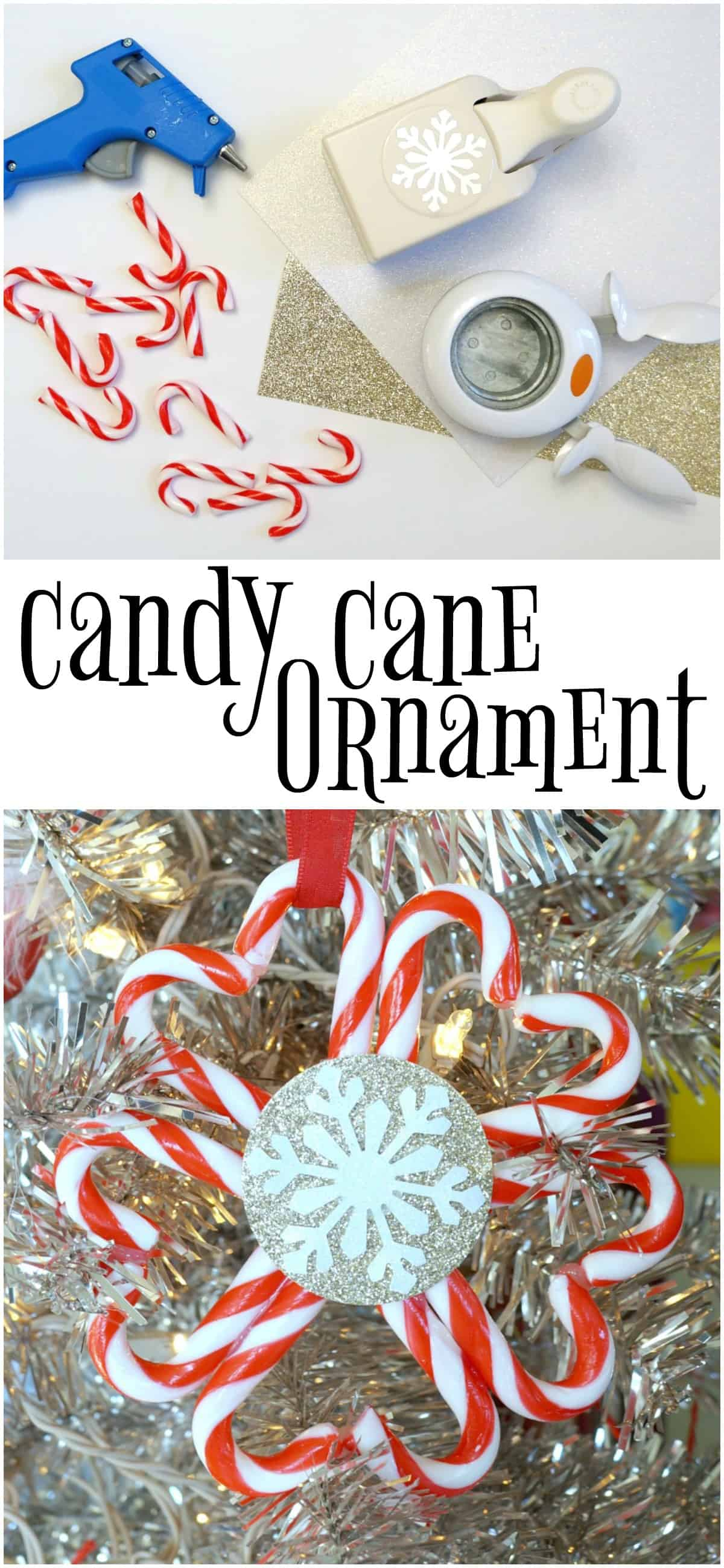 Dollar store Candy Cane Ornament