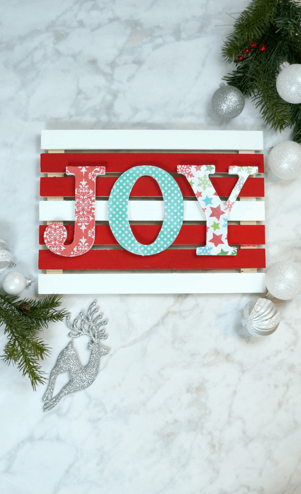 Colorful Christmas Pallet Sign - Creative Ramblings
