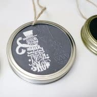 Mason Jar Lid Ornament