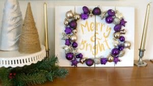 Merry and Bright Ornament Pallet Sign