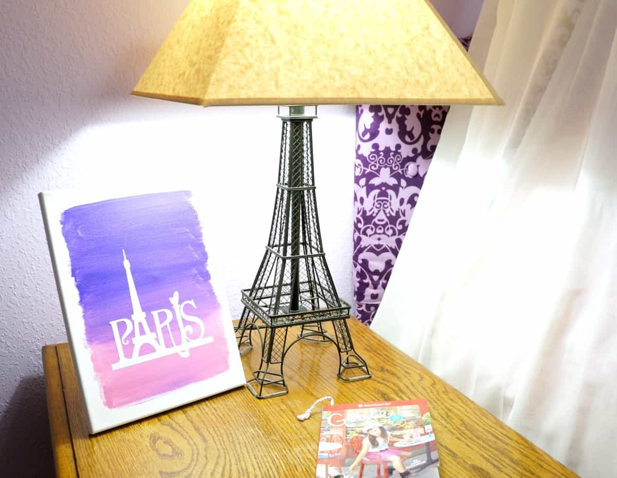 Paris canvas with paint and vinyl