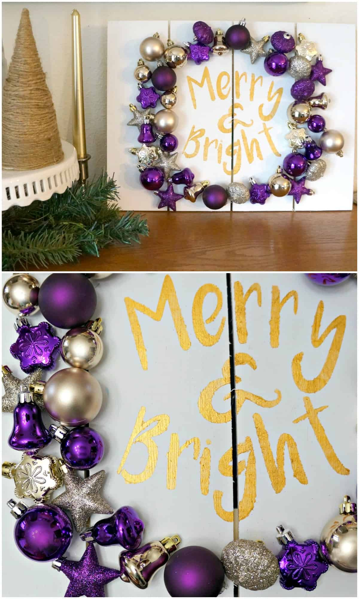 Ornament Pallet Sign by Creative Ramblings