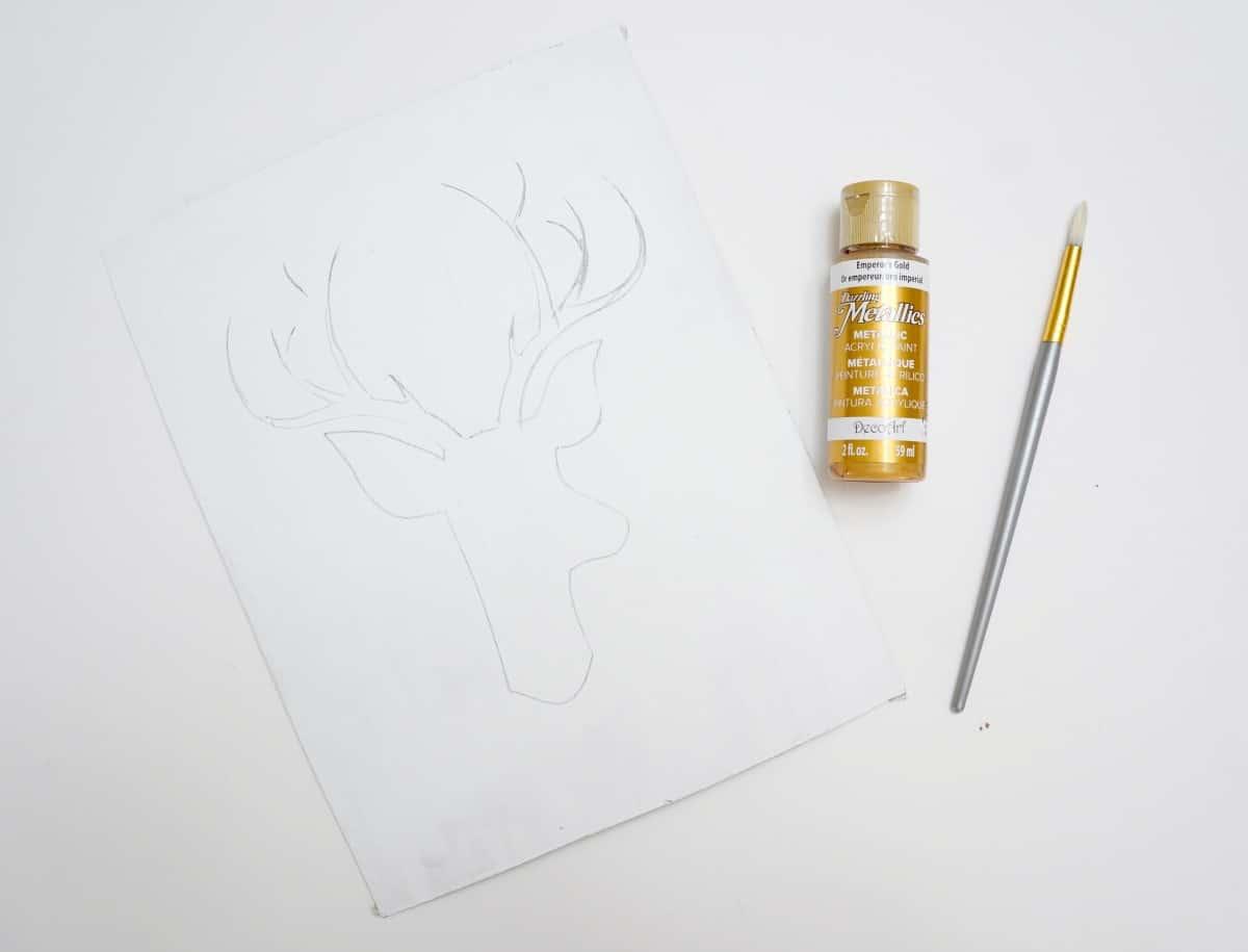christmas reindeer art tutorial