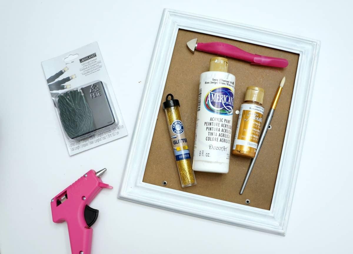supplies for reindeer art