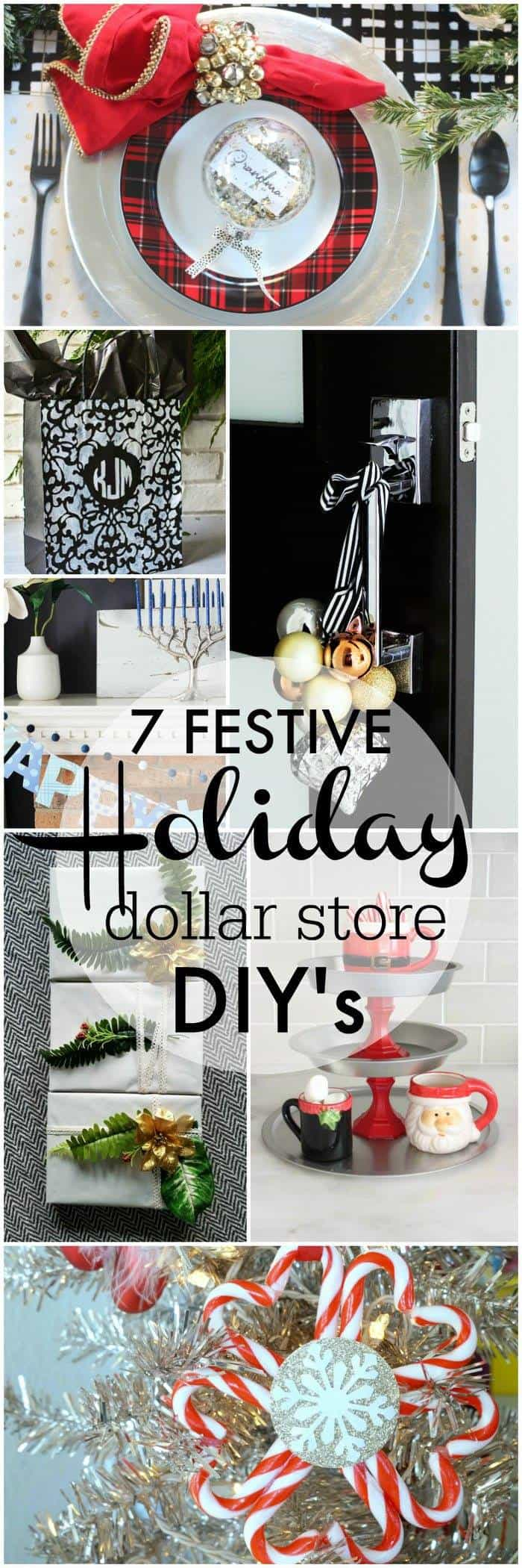7 festive holiday Dollar Store DIY Projects