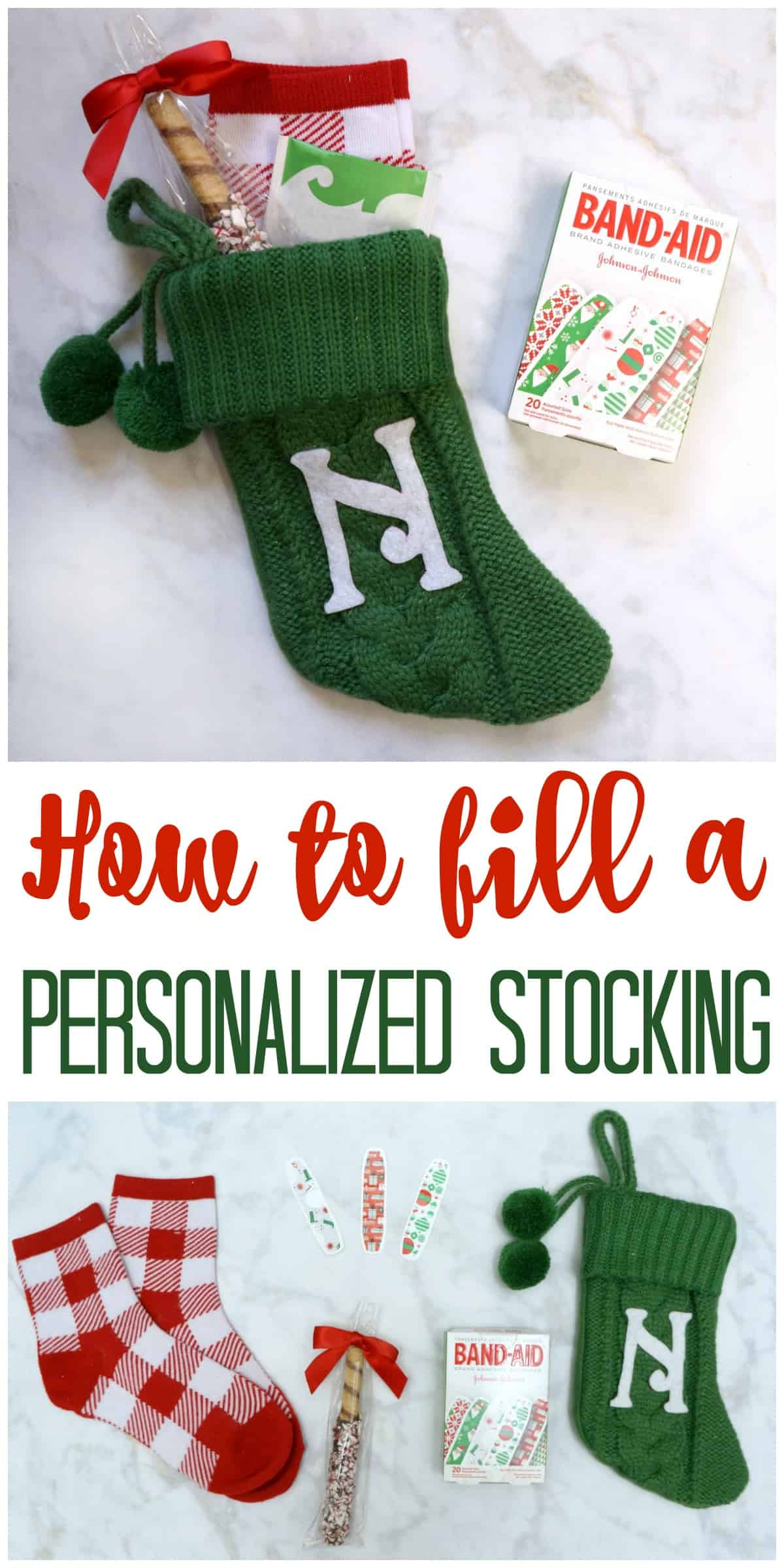 How to fill and gift a personalized stocking teacher gift