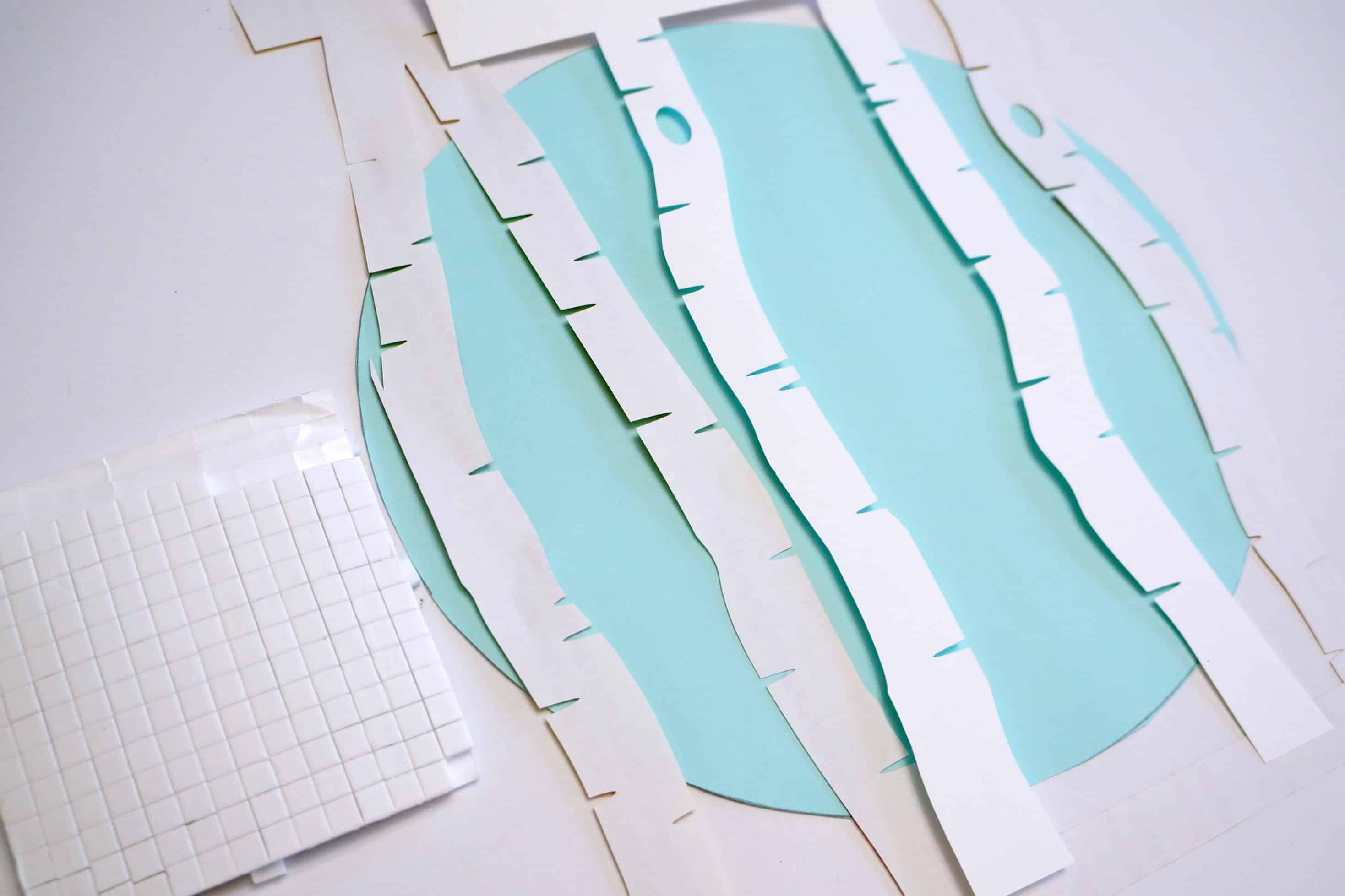 Winter Scene Paper Hoop Art layering