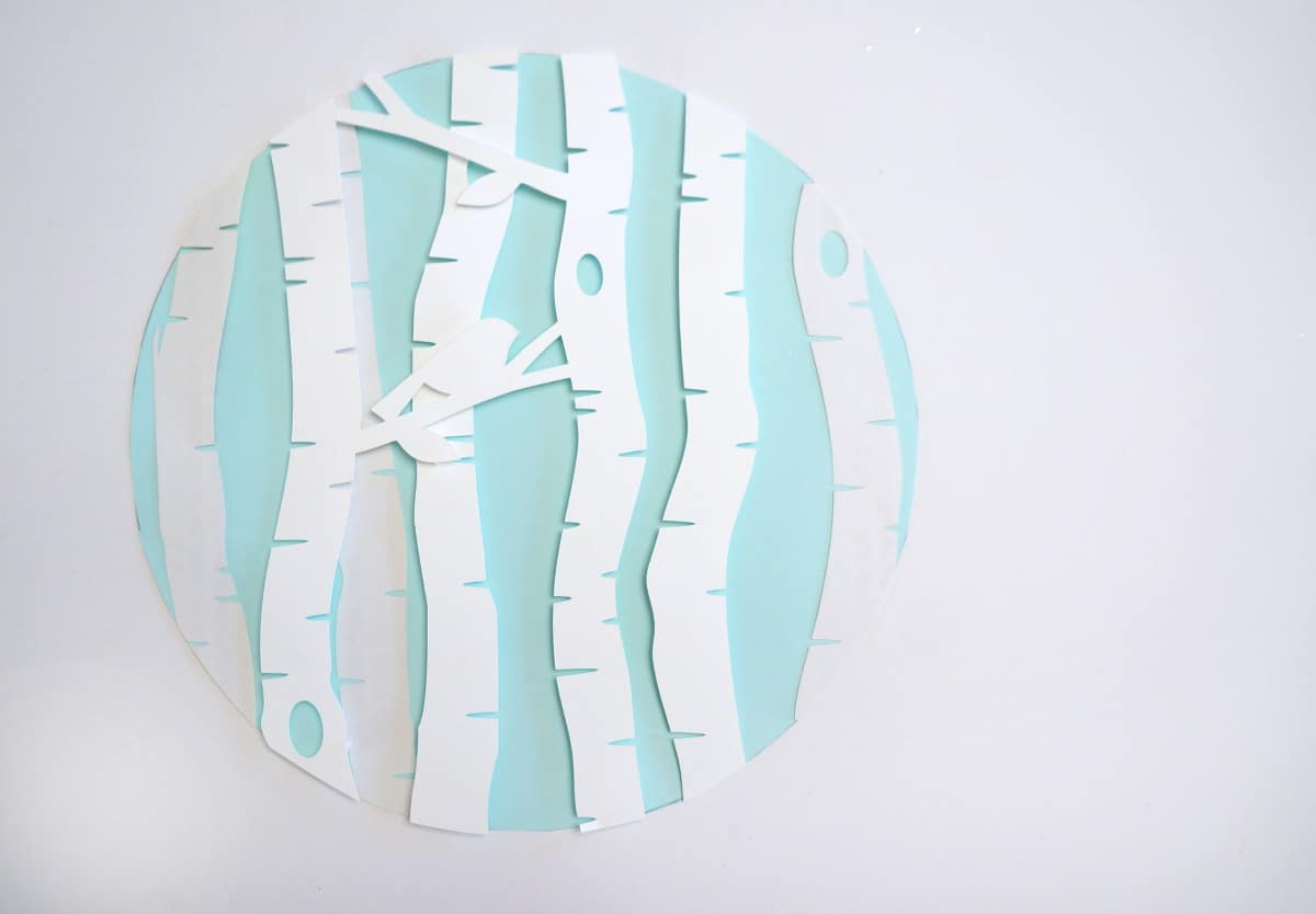 Winter Scene Paper Hoop Art silhouette