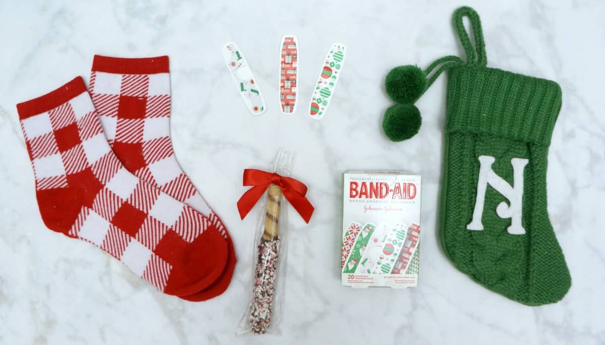 personalized stocking teacher gift with Band-aid