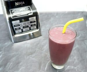 Berry smoothie with Ninja blender