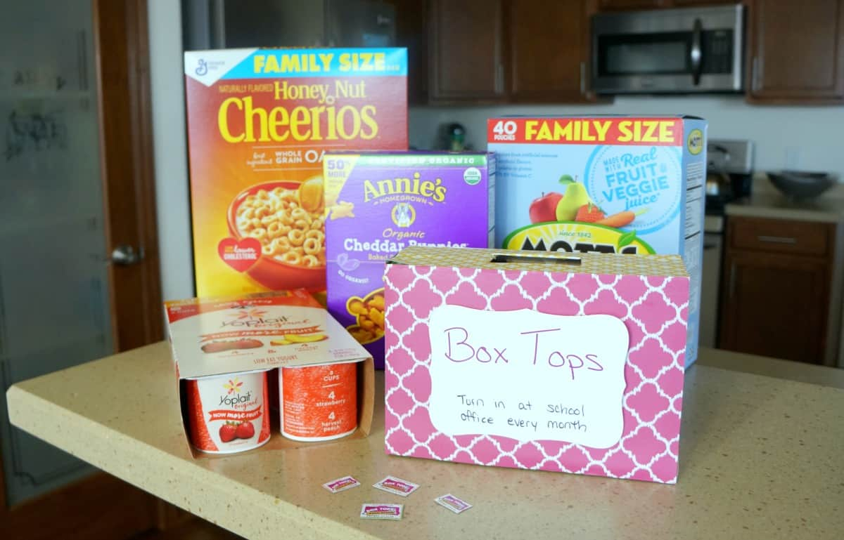 How to collect Box Tops for your school at home
